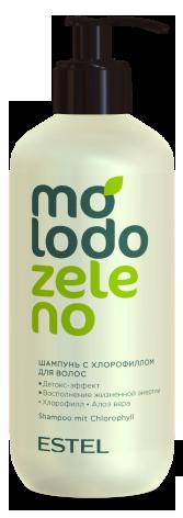 Шампунь с хлорофиллом для волос Molodo Zeleno  400мл